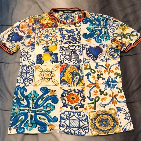 509ff2f2 Dolce & Gabbana Shirts | Dolce Gabbana Maiolica Tshirt | Poshmark